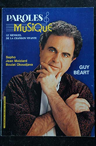 Paroles & Musique 28 * 1983 03 * GUY BEART SAPHO JEAN MOIZIARD BOULAT OKOUDJAVA