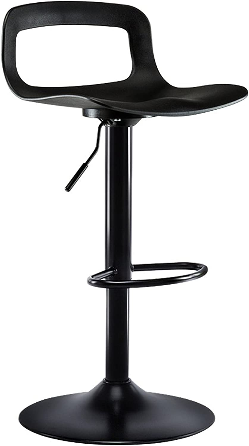 DQMSB High Stool Bar Chair Home Back Bar Stool Lift Swivel Chair (color   Black, Size   41CM)