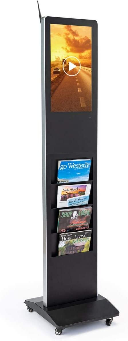 Displays2go Digital Popular shop is Outstanding the lowest price challenge Magazine Floor Stand DisplayIt Xpress – Bl