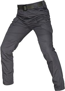 بنطلون رجالي من Wanmxinein من قطعة واحدة من بناطيل مرنة متعددة الجيوب في الهواء الطلق للرجال نحيفة (اللون: رمادي، المقاس: ...