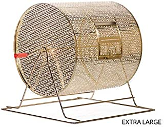 MR CHIPS Professional Lottery Spinning Drawing for Manual Bingo Cages - Brass Plated Casino Raffle Drums - Available in 5 Sizes- Ticket Holder Dispenser