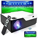 Proiettore WiFi Native 1080P 7500 lumen supporto 4K Full HD senza fili Schermo 4K Full HD, proiettore Wi-Fi Home Cinema Professionale, supporto HDMI/USB/TV Stick/Xbox/Laptop/iOS/Android Smartphone