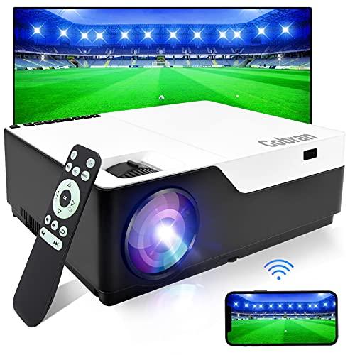 Proiettore WiFi Videoproiettore Nativo 1080P 7500 Lumen Supporta 4K Full HD 300   Home Theater, Correzione Trapezoidale Condivisione Schermo Telefono Cellulare, Compatibile iOS Smartphone PC USB