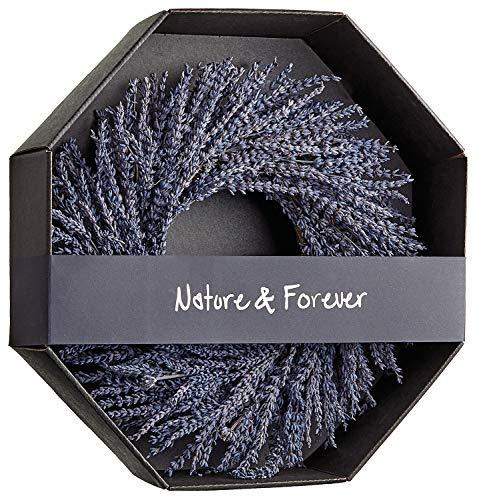 Allstate 14 Inch Preserved Lavender Natural Wreath, Fragrant Real Lavender Front Door Wreath