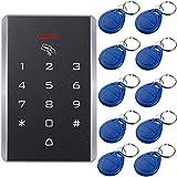 UHPPOTE 125KHz Una Sola Puerta Proximidad RFID Tarjeta Teclado De Control Acceso Incluye EM4100 ID Llaveros