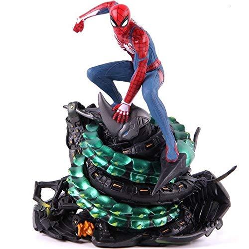 WaWeiY PS4 Spider-Man Collectores Edición Spiderman Figura acción PVC Estatua Coleccionable 18 cm Modelo de Juguete