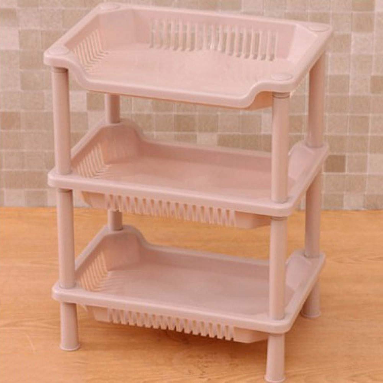 Bathroom Shelf Rectangular Three-Storey Finishing Rack Bathroom Bathroom Plastic Shelf,E