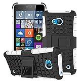 XEPTIO Etui ProteKtoR Microsoft Lumia 640 Total Blanc avec Stand - Housse Coque de Protection Silicone avec Stand Nokia 640 - Prix...