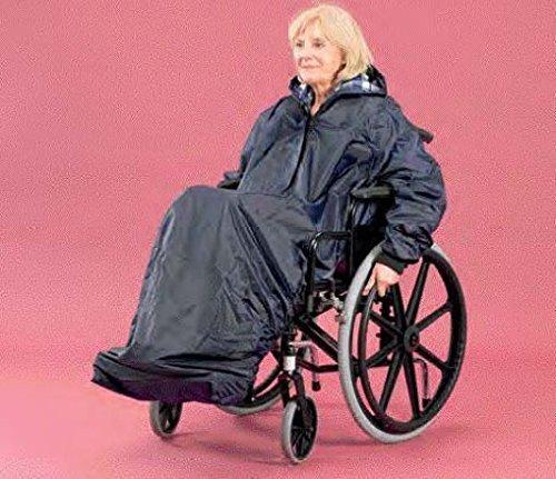 Waterproof Wheelchair Mac / Rain Mac / Poncho with Hood & Sleeves - LONG by UK Care Direct
