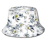 Ancha Bucket Hat,Unisex Sombrero Pescador,Boonie Hat,Verano Sombrero De Sol,Sombrero De Pescador Goldenrod Mostaza Spot Hombres Mujeres Tendencias Moda