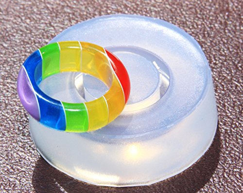 Clear handmade Silicone Mold for Ring sizes 7. Free USA shipping (300-1)