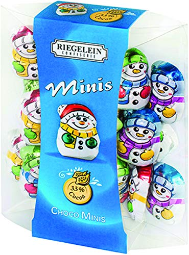 Riegelein Mini Solid Snowmen 33% Milk Chocolate Holiday Stocking Stuffer 3.5 oz