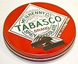 Tabasco 'Spicy Dark Chocolate Wedges' - Pack of 2 Tins - 1.75 oz each