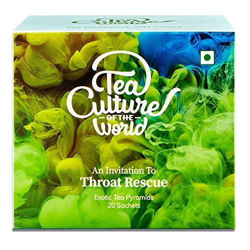 Tea Culture of The World Throat Rescue Tea - 20 Tea Bags - Green Tea