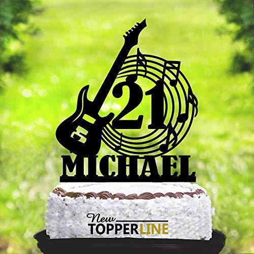 Montrwie Gitarre Tortenaufsatz Musik Topper Gitarre Musiker Band Party Musikinstrument Geburtstag Kuchen Topper Musik Geburtstag