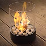 Tabletop Bioethanol Fireplace ? Longest burning 3,5h -Garden Fire Heater 2,5kW - Indoor/Outdoor ? 1L Fuel Inc, Free Shipping - Decoration for balcony - Home and Garden gift ideas - Chantico by Planika