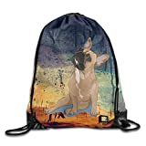 SOOPTY French Bulldog Drawstring Gym Sport Bag, Large Lightweight Gym Sackpack Backpack for Men and...