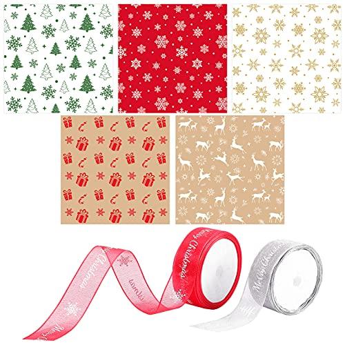Papel Regalo Navidad Rojo Marca HEMOTON