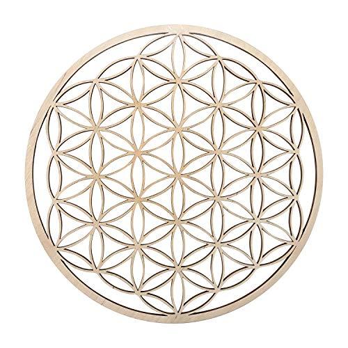Blume des Lebens Wanddeko Holz 28 cm | Wandschmuck Lebensblume Wand Dekoration Spirituelles Symbol | Esoterik Geschenke günstig kaufen