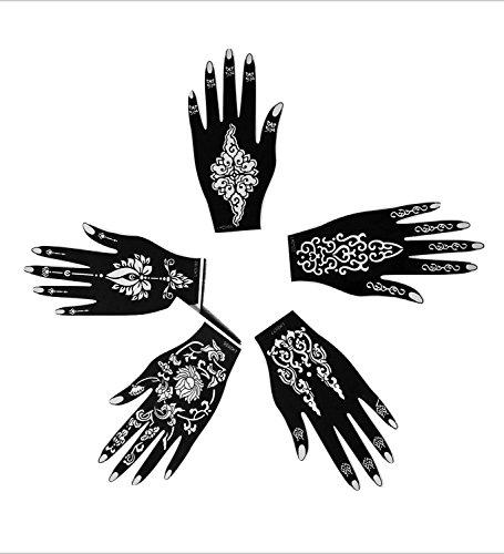 5piezas derecho parte superior de mano enchancted India árabe pegatinas adhesivo reutilizable plantilla para dibujar alrededor por laminau
