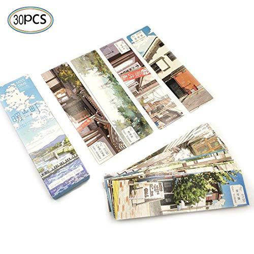 Lesezeichen 30 Stücke Japanisches Design Bookmark für Kinder Frauen Studenten Papier Lesezeichen Lesen Anreize für Schule Preise Klassenzimmer Auszeichnungen Angebot Meldungskarte Segen Karte