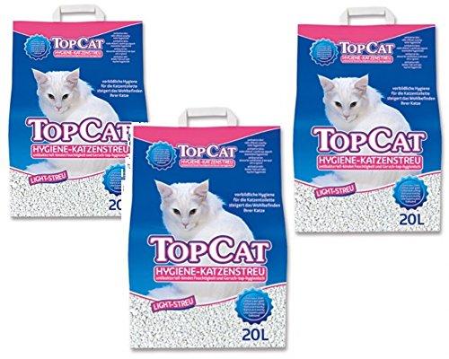 Perfecto Cat Katzenstreu TopCat Hygiene Light 20 Liter Größe 3 x 20 Liter