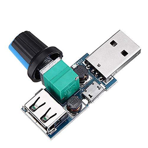 Nologo TIN-YAEN USB Fan Speed Controller Module Reducing Noise Multi-stall Adjustment Governor DC 4-12V Spot Steuermodul Accessories