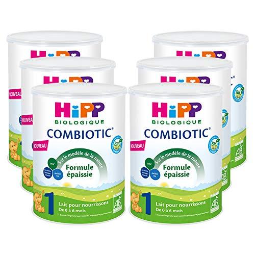 Hipp Biologique Lait 1 Combiotic Formule Epaissie 800 g - Lot de 6