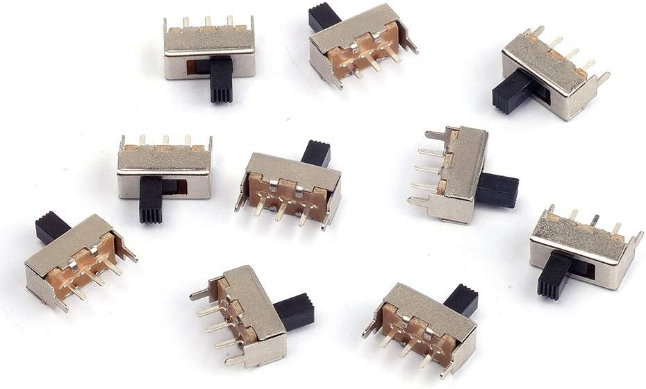 Cylewet 10Pcs 12mm Vertical Slide Switch P 3 SPDT 1P2T with Fees free Pins security