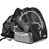 texsens pet expandable backpack carrier for dogs cats puppy - with ventilated breathable mesh
