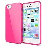 NALIA Funda Compatible con iPhone SE 5 5S, Ultra-Fina Gel Protectora Movil Carcasa Silicona Telefono Bumper, Ligera Goma Cubierta Jelly Cobertura Delgado Cover Smart-Phone Case (Pink)