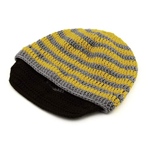 New Chic Warm Winter Hombres Mujeres Trenzado Baggy Knit Croche Hat Ski Cap Gorro Profesional y de Moda Amarillo, Uniquelove