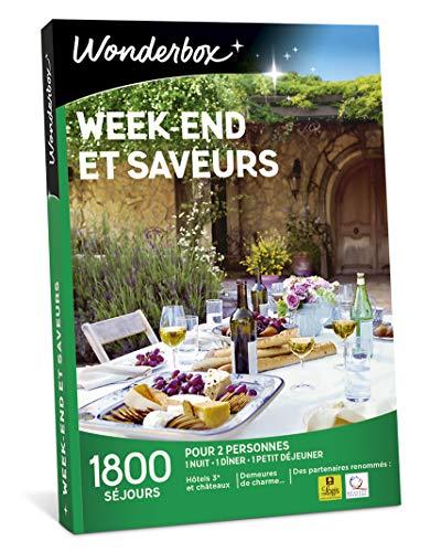 Wonderbox - Coffret cadeau couple Saint valentin - WEEK-END ET SAVEURS