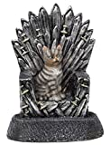 Funny Guy Mugs Cat On A Throne Garden Gnome Statue- Indoor/Outdoor Garden Gnome Sculpture for Patio, Yard or Lawn