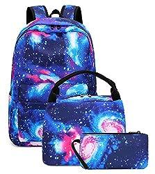 powerful Galaxy School Backpack School Bag Casual School Bag for Teenage Girls and Boys (E0087-Blue)