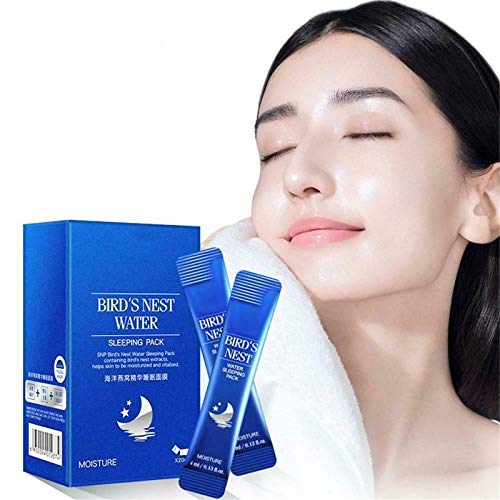 Skin Reborn Cooling facial_Mask_-brighten skin tone, Ocean Birds Nest_Mask, No-Washing Hyaluronic Acid Moisturizing Gel at Night, Effectively Remove Dirt (1 Box / 20)