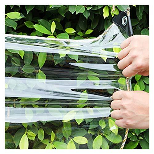 JYW-coverS YANJINGYJ Muebles Aislante Lona, Exteriores Copertura Toldo, Anti-UV Duradera Canvas for GardenMate Jardín Gazebo Intemperie, 450g/m², 0.35mm (Color : Clear, Size : 3x4m)