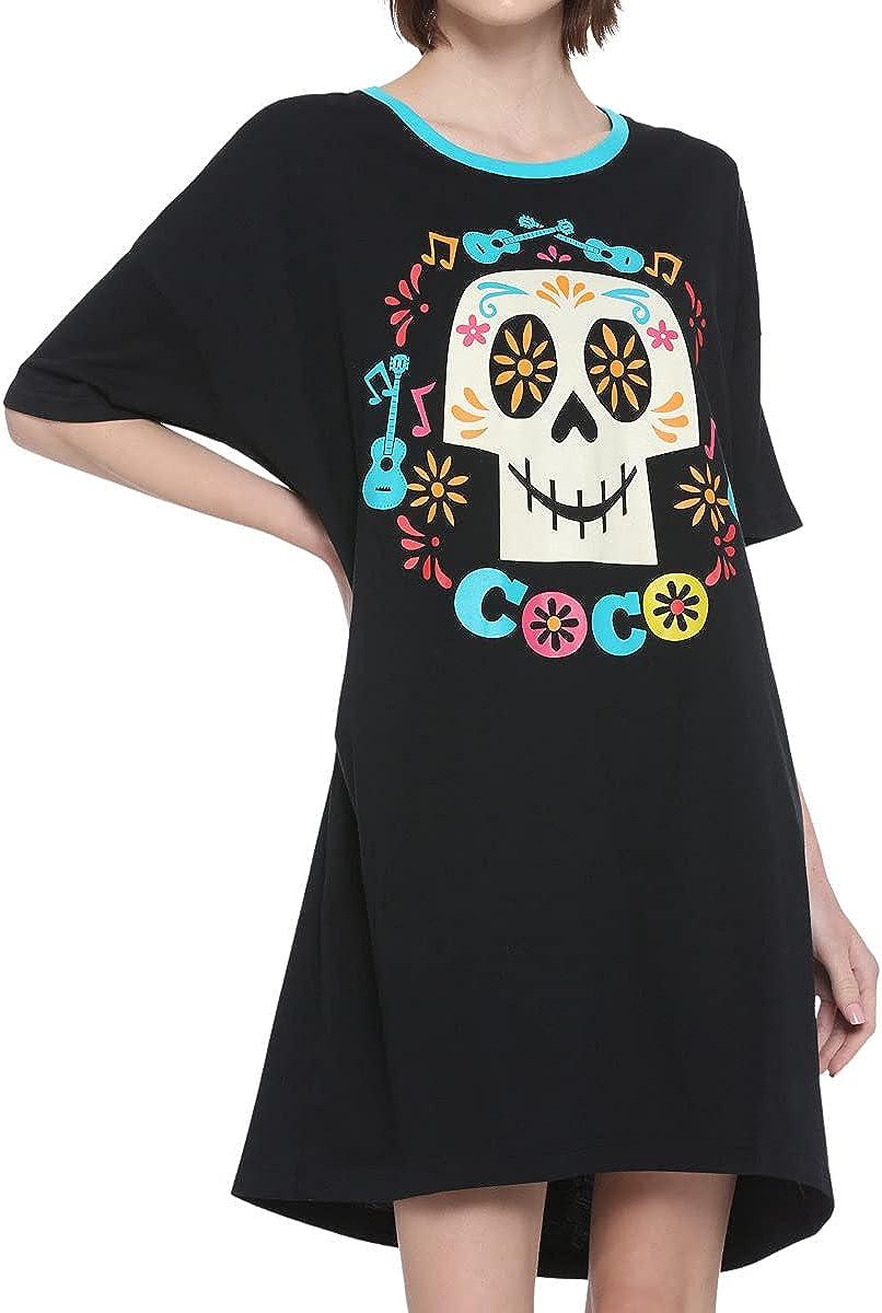 Disney Pixar Coco Skull Dorm Shirt Black