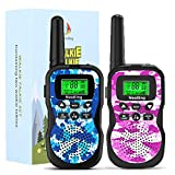 Nestling 2 Pack Walkie Talkies for Kids, Upgraded Version Camo Exterior 8 Channels