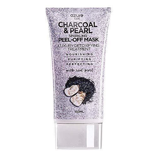 AZURE Charcoal & Pearl Luxury Anti Aging Peel Off Mask – Moisturizing, Purifying & Detoxifying | Removes Blackheads, Dirt & Oils | Reduces Wrinkles, Fine Lines & Acne Scars | Made in Korea - 150mL