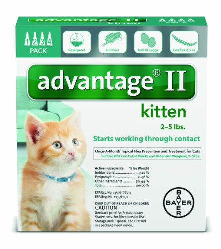 Advantage II 4pk Kitten Under 5lbs