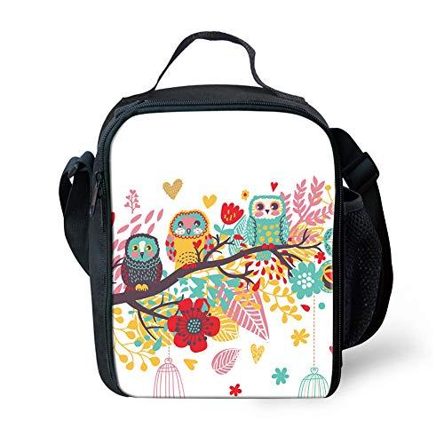 Coloranimal, graziosa borsa per il pranzo 3D per bambini Gufo colorato