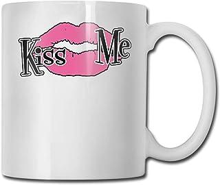 Xarchy Tasse à café Embrasse-moi Tasse/tasse en céramique Tasses à café personnalisées Tasse de voyage en céramique Tasse ...