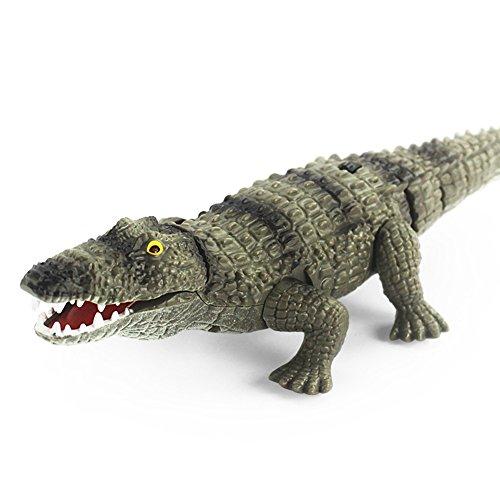 elegantstunning Elegantes Krokodil-Spielzeug mit Fernbedienung, rechteckig, für Kinder lichtgrün