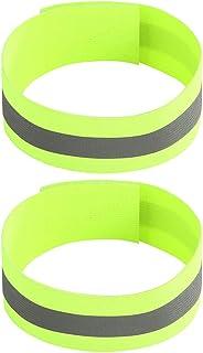FXINYI 2 pulseras reflectantes de seguridad nocturna, para actividades al aire libre, para correr, ciclismo, correr, ciclismo, correr, etc.