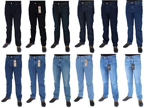 Levi s 501 Original Fit Jeans Homme, Bleu (Levi s Marlon), 42W   32L