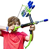 FAUX BOW Bow & Arrow - Shoots Over 100 Feet - Foam Bow & Arrow Archery Set - Green & Black (Lizardite)