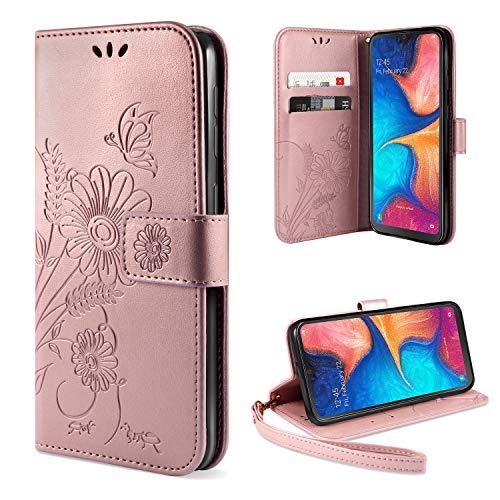 ivencase Handyhülle Kompatibel mit Samsung Galaxy A20e Hülle Flip Lederhülle, Handyhülle Book Case PU Leder Tasche Case und Magnet Kartenfach Schutzhülle