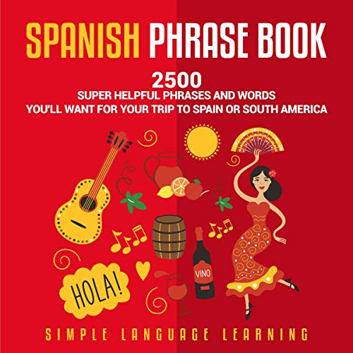 Spanish Phrase Book audiobook cover art