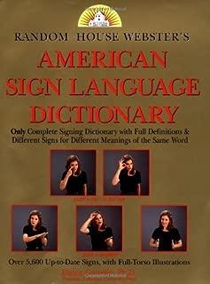 Random House American Sign Language Dictionary by Random House (1994-03-08)